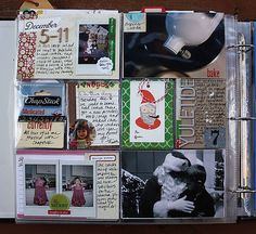 If only I could be this organized. Combination scrapbook/journal ~ fun memories.
