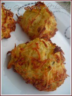 Recette galettes de pommes de terre et parmesan par Christelle : Voici comment revisiter la pomme de terre en toute légèreté..Ingrédients : olive, origan, poivre, pomme, café
