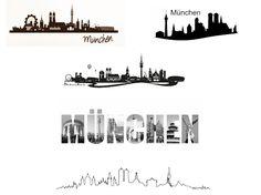 Wandtatto München Skyline