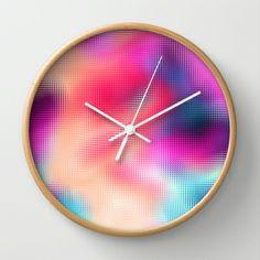 Bastard Abstract Wall Clock by Danny Ivan - $30.00