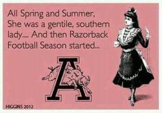 Razorbacks - love this, just wish they had looked up the meaning of gentile and used genteel or gentle, instead... ;)
