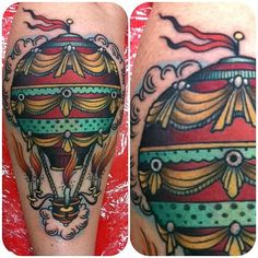 W.T. Norbert @ Hunter and Fox Tattoo extremely fascinated by hot air balloons! !!