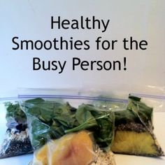 Healthy Smoothies for the Busy Person | Adventures in Mindful Living