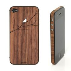 iPhone 4/4S Bird Walnut Set, $29, now featured on Fab.