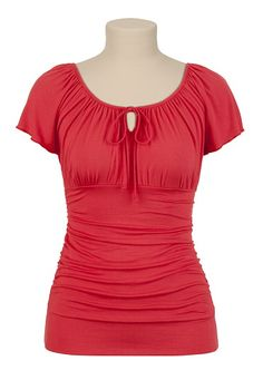 Maurices: Solid Tie Neck Top - maurices.com