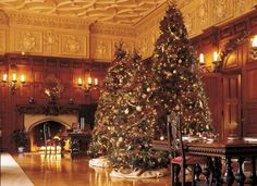 one of my favorite garden spots to visit is biltmore estates in asheville nc the, christmas decorations, gardening, seasonal holiday d cor, Fresh garlands are made of white pine and Fraser fir They change them weekly to keep them fresh for guests using a total of 5 000 feet during the season