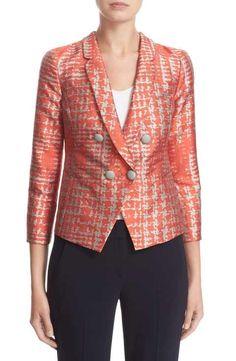 1369b83e13a Armani Collezioni Basket Jacquard Double Breasted Jacket