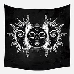 Sun Moon Crescent Tapestry - 150*200cm