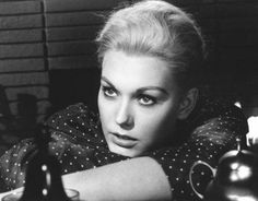 Kim Novak was a fantastic actress of the late 50's and 60's. She is best known for her association with Alfred Hitchcock, and her most famous film, Vertigo. She was so hauntingly beautiful in that film with Jimmy Stewart.
