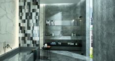 Roma Classic tiles are part of a new, luminous collection of marble-effect tiles by FAP Ceramiche. Find out more about our classic tiles. Industrial Bathroom Design, Bathroom Interior, Modern Bathroom, Marble Bathrooms, Background Tile, Shower Shelves, Italian Marble, Marble Effect, Wall And Floor Tiles
