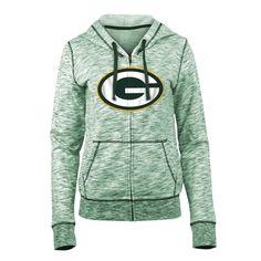 Women s New Era Green Bay Packers Space-Dye Hoodie  Green 02fc23267d