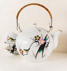 Vintage Japan Teapot Plum Blossom YY Made by TheOtherLifeVintage, $35.00