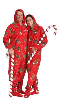 Christmas Fleece Cotton Adult Unisex Footed Pajamas Sleepsuit All ...