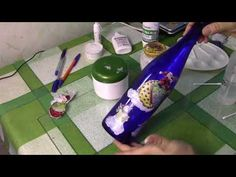 Декупаж на тёмной поверхности без подрисовки фона ХоббиМаркет - YouTube Reuse, Decoupage, Recycling, Projects To Try, Glass, Bottles, Youtube, Glass Canisters, Decorating Bottles