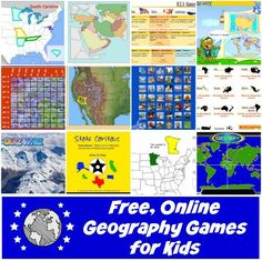 List of online geography games and quizzes for kids in elementary school. Students can practice what they know about locations, capitals, landmarks, landforms, etc. Geography Games For Kids, Quizzes For Kids, Geography Classroom, Geography Activities, Geography For Kids, Geography Map, Geography Lessons, Teaching Geography, World Geography