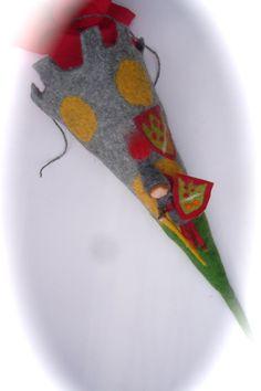 Schultüten - Schultüte Zuckertüte Ritter. - ein Designerstück von Filz-Art bei DaWanda