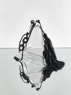 Monica Bonvicini 2015 heavy belle glass leather iron chain