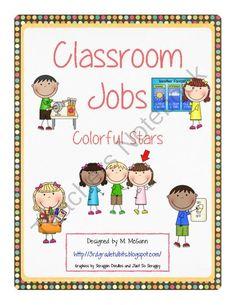 Classroom Jobs - Star Theme from Third Grade Tidbits on TeachersNotebook.com (38 pages)