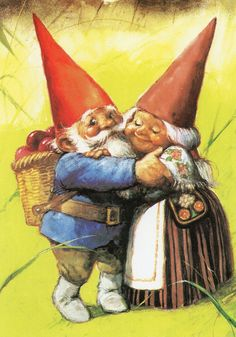 Art Print by Rien Poortvliet Gnome elf David and Lisa