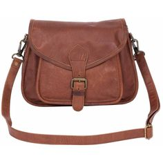 ad003edbba9ad MAHI Leather - Classic Saddle Pouch Bag in Vintage Brown Leather ( 165) ❤  liked