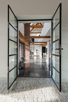 boerderij verbouwen - Oosterhout | ID-Architectuur Interior Exterior, Interior Architecture, Interior Design, Modern Barn, Window Design, Dream Decor, My Dream Home, Home Deco, Future House