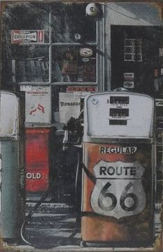 route 66 gasoline pump  div. maten