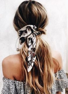Hair scarf loose and boho for summer.