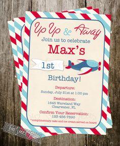 "August Home Party - ""Aviation Day"": Airplane vintage Invitation plane pilot aviation Birthday Party digital printable diy Planes Birthday, Planes Party, Boy Birthday, Happy Birthday, First Birthday Parties, Birthday Party Themes, Birthday Invitations, First Birthdays, Birthday Ideas"