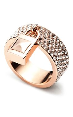 Eddie Borgo 'Pavé Padlock Ring'  So cute
