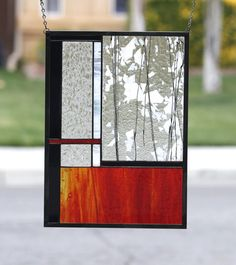 FIRE & ICE  Large Abstract Stained Glass Window by gallerydelsol, $98.00