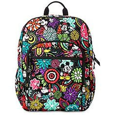 Mickey's Magical Blooms Campus Backpack by Vera Bradley | Disney Store Carry a garden of pretty flowers with you wherever you go with this Campus Backpack. Featuring Vera Bradley's signature quilted design, this spacious hold-all features the sweetheart couple within the vibrant Mickey's Magical Bloom print.