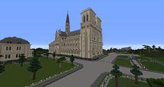 #minecraft #Cathédrale #Notre-dame-de-paris #Notre-dame Minecraft, Castle, Mansions, House Styles, Home, Manor Houses, Villas, Ad Home, Castles