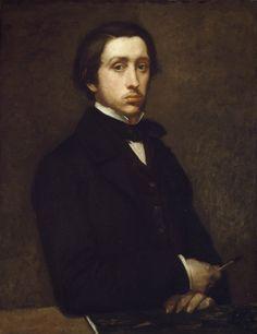Detail of Self portrait by Edgar Degas