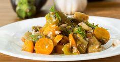 Recette de Ratatouille de carottes et courgettes à la menthe. Facile et rapide à réaliser, goûteuse et diététique.