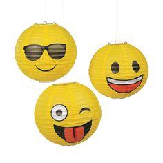 Emoji+Hanging+Paper+Lanterns+-+OrientalTrading.com