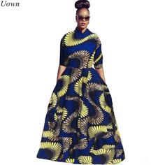 Cheap dress for, Buy Quality dress for women directly from China 2 piece dress Suppliers: Uown Autumn Traditional African Print 2 Piece Dress for Women Long Maxi Dresses Half Sleeve Bazin Riche Vintage Dashiki Dress Long Sleeve Short Dress, Half Sleeve Dresses, Plus Size Maxi Dresses, Maxi Dress With Sleeves, Long Dresses, Short Sleeves, African Dresses For Women, African Attire, African Wear