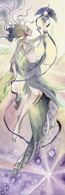 Stephanie Pui-Mun Law - Shadowscapes - Fantasy Art /Inspiración Azul @diariodeltraje #moda