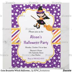 Cute Brunette Witch Halloween Party