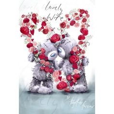 Wife Softly Drawn Me to You Bear Valentines Day Card £2.49