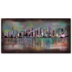 Trademark Fine Art 'Miami' Canvas Art by Ellicia Amando, Size: 16 x 32, Multicolor