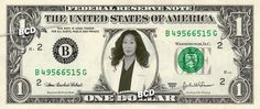 Christina Yang - Sandra Oh - Real Dollar Bill Cash Money Collectible Memorabilia Celebrity Novelty Bank Note Dinero Currency by Vincent-the-Artist, $8.88 USD