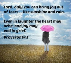 Sunshine and RainWhen writer Teri Cox submitted this article to us, the mixture of joy and pain she described resonated with me. A bit of sweet sunshine in the midst of the rain of loss. Please join her, and perhaps you'll be blessed to know that so many others have tasted that bittersweet, and have learned to lean on the Lord to get them through such moments. http://www.awidowsmight.org/2014/01/sunshine-and-rain/