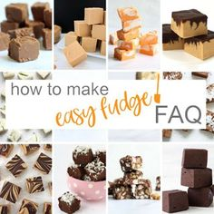 How to make easy fudge! – Easy microwave fudge recipes you can make without a candy thermometer. Butterscotch Fudge, Maple Fudge, White Chocolate Fudge, Eggnog Fudge, Chocolate Cherry, Christmas Fudge, Christmas Desserts, Christmas Treats, Key Lime Fudge
