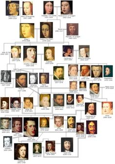 This Habsburg Family Tree, while not showing Juan because he was not legitimate, illustrates his position within it and how it divided between the Imperial branch and the Spanish branch upon the retirement of his father.