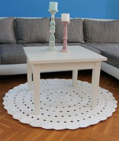 I love this wonderful crochet rug! It's perfect for your living room.  dimension: 108 centimeter 100% handwork!! available on request