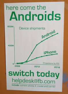 Droidfooding: After Years Of Giving Employees iPhones, Posters At Facebook HQ Beg Them To Test Android