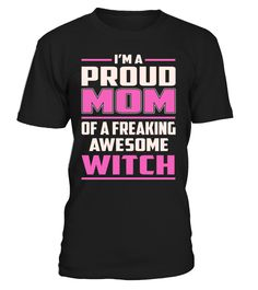 Witch Proud MOM Job Title T-Shirt #Witch
