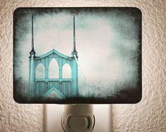 St. Johns Bridge Night Light by House of Six Cats on Etsy $20.00 PDX Etsy