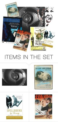 """""""ALFRED HITCHCOCK PRESENTS"""" by misssophiejoint ❤ liked on Polyvore featuring art"""