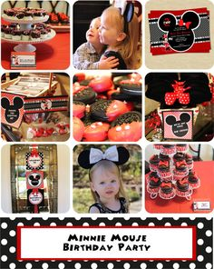 Minnie Mouse Party Package  Minnie Mouse by StorybookLaneCrafts, $25.00